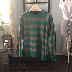 French connection green and gray sweater